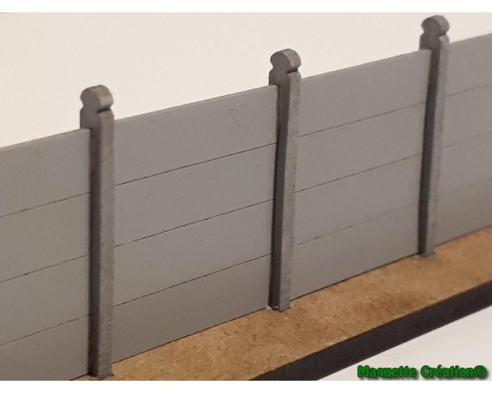 Mur en plaques de béton