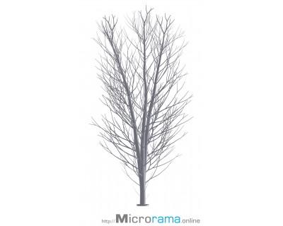 Microrama Birke drei Äste 10 cm Masstab HO