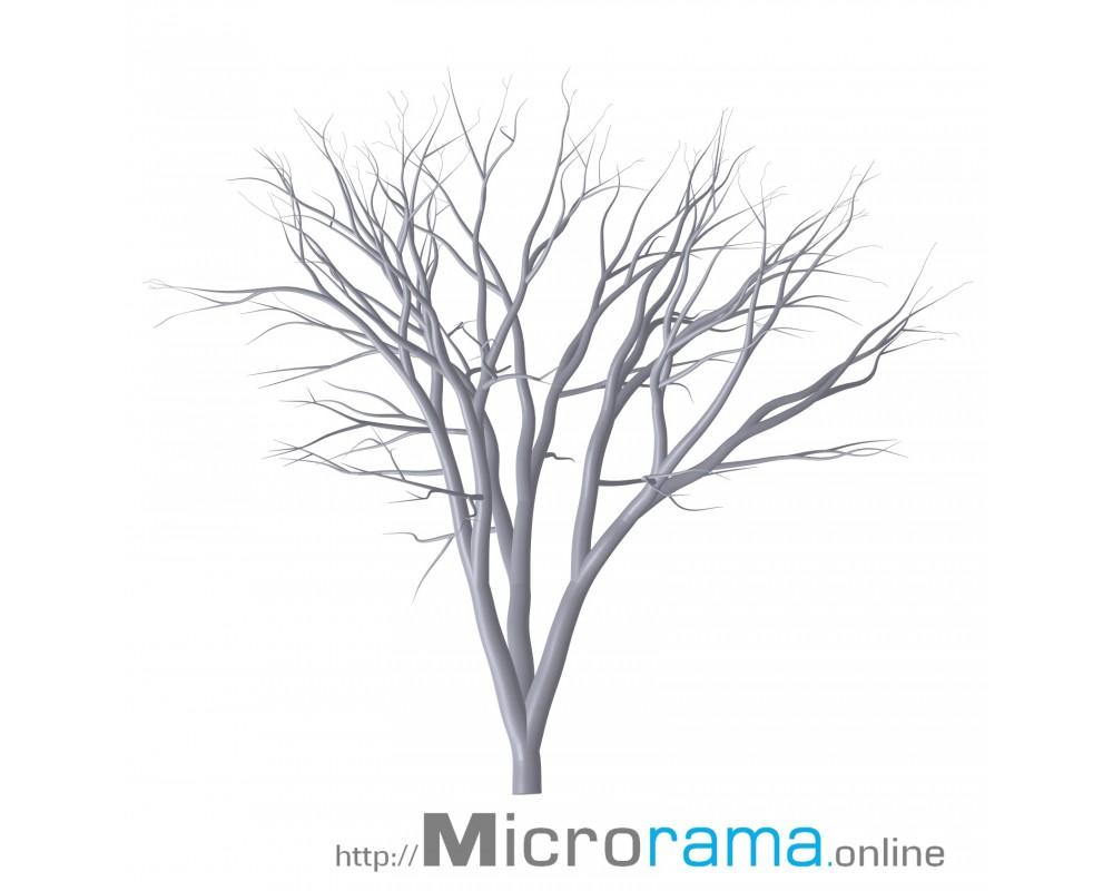 Fruchtbaum zwei Äste 5 cm Masstab HO