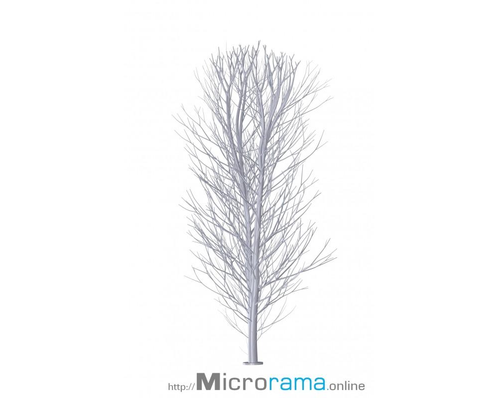 Microrama Birke zwei Äste 10 cm Masstab HO