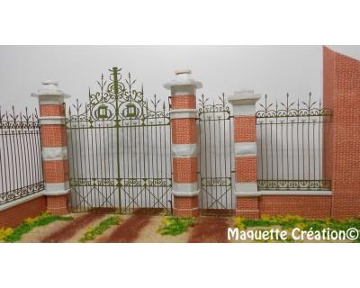 Puerta de hierro forjado 72e