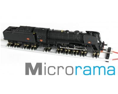 Banco de pruebas y exposición de locomotoras HO L 800 mm con 10 soportes de eje