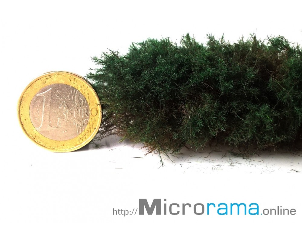 Vert sombre 2 mm. Herbe statique en fibre Magifloc