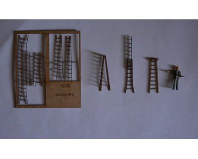 Stufenleitern aus Holz 87.