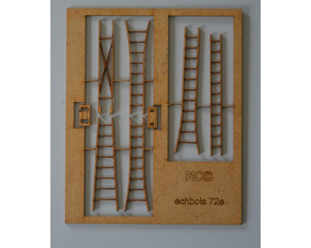Echelles escabeau en bois 72e