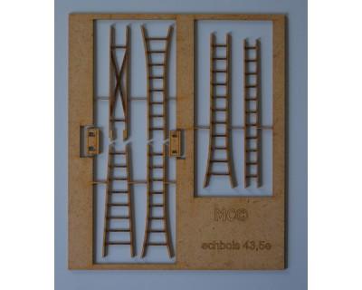 Echelles escabeau en bois 43,5e