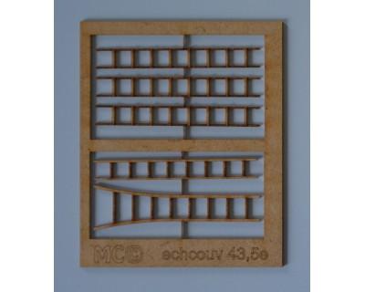Escaleras de madera para tejados 43.5e