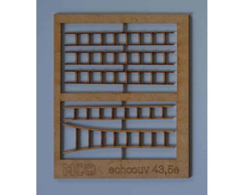 Echellesde couvreurs en bois 43,5e