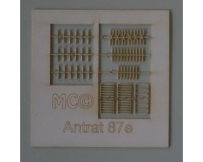 6 antenne a rastrello 87°