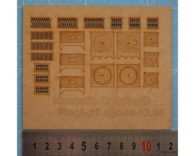 Placas y rejillas de alcantarillado 43.5e