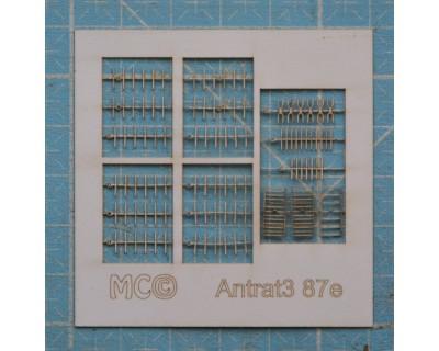 15 antennes rateau 87e