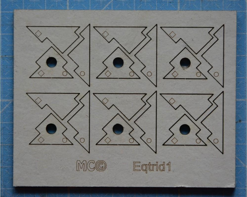 Equerres d'angles tridimensionnelles