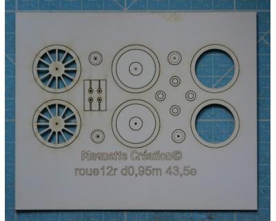 Llantas de 12 radios d0,95m 43,5e