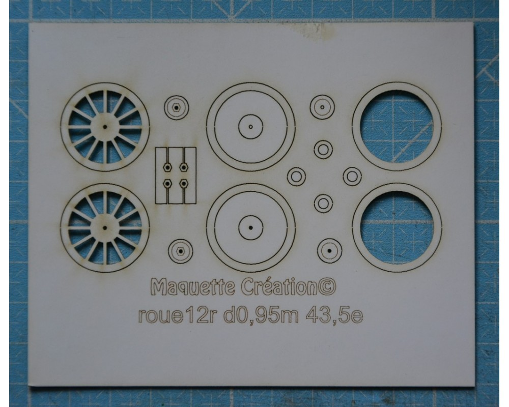 Roues 12rayons d0,95m 43,5e