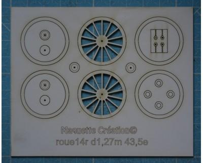 14-Speichen-Räder d1.27 43.5e