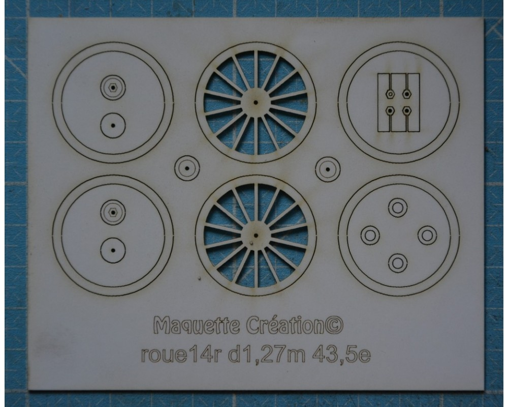 Roues 14rayons d1,27 43,5e