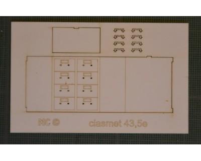 Classeur tiroir métal 43,5e
