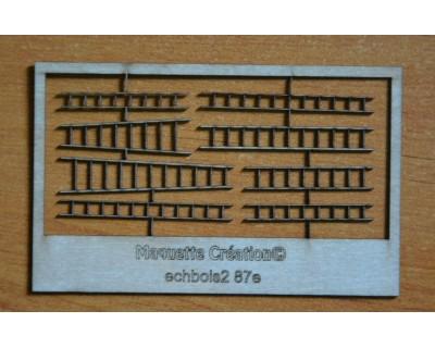 Scale scorrevoli in legno 87e