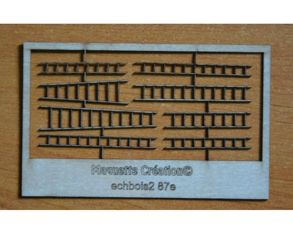 Echelles coulissantes en bois 87e