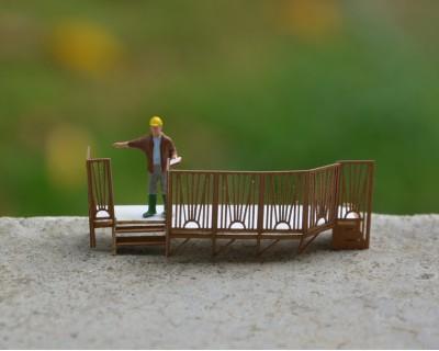 Terrasse caravane H0