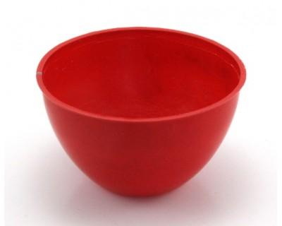 Recipiente rojo para mezclar la resina Magiplast