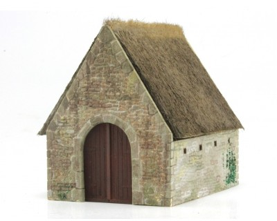 Thatched shed Brittany region at HO scale