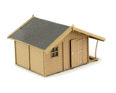 Hütte mit Blockhaus