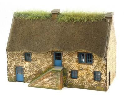 Bretonisches Landhaus aus Sichtstein im Maßstab HO