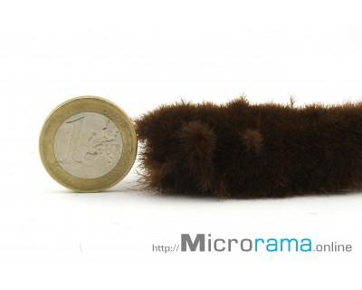 Marrón 2 mm. Hierba estática en fibra Magifloc