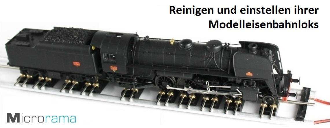 Rollenprüfstand für Modelleisenbahnen Microrama